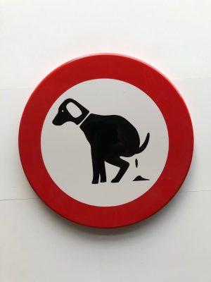 Verboden voor honden Ø 30cm