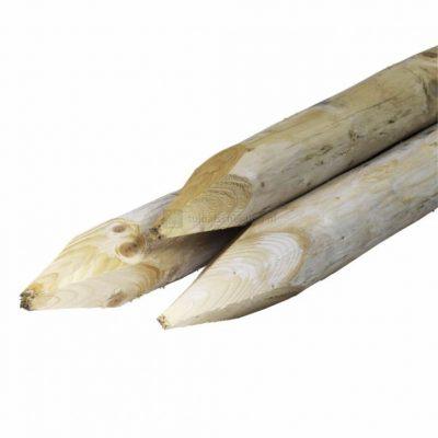 Baumpfosten-Rundholz-Nadelholzpfosten, geschält und spitz